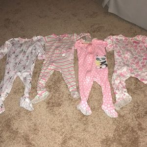 Baby girl BUNDLE pjs!